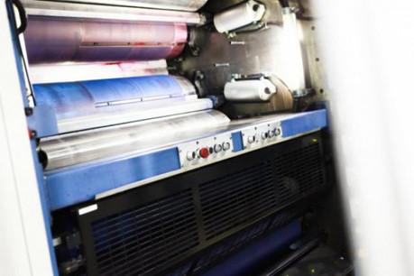 Le secteur de la presse est touché. Les rotatives broient un peu de noir. (Photo : Jessica Theis / archives)