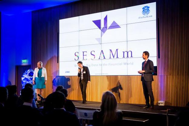 Sylvain Forté, le CEO de Sesamm, était venu pitcher lors de la première édition des Fintech Awards. (Photo: Maison Moderne / Archives )