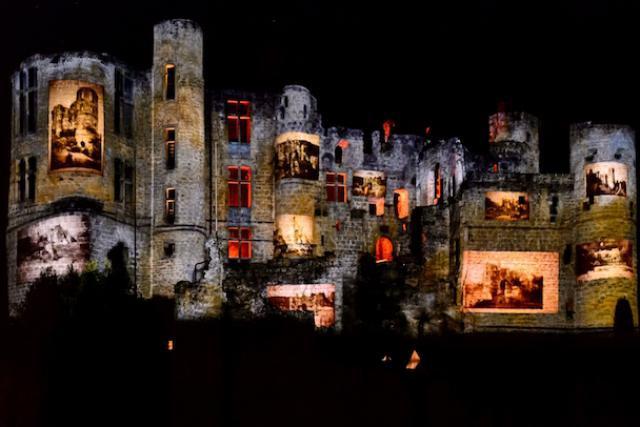 Une façon spectaculaire et festive de découvrir le château de Beaufort. (Photo: ORT MPSL)
