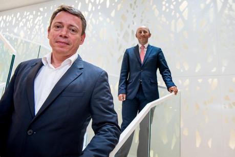 Olivier Renault et Laurent Marochini ont mis au point le projet #LePlateau Lux pour intégrer des start-up dans les locaux de SGBT. (Photo: Nader Ghavami)
