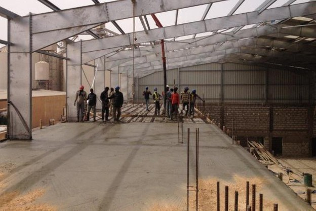 En Afrique, Steel Shed Solutions répond surtout à des besoins en grands hangars de stockage, dans le secteur de l'agro-alimentaire. (Photo: DR)
