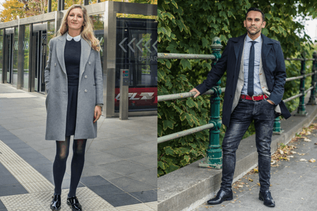 Juliette Feitler et Nasir Zubairi nous présentent un look automne. (Photo: Mike Zenari)
