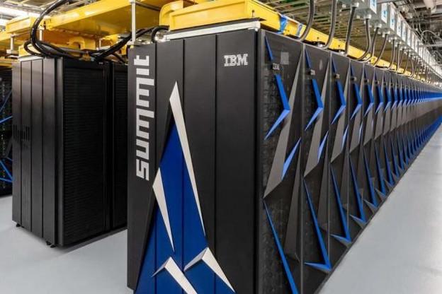 Le supercalculateur Summit avoisine une puissance de calcul de 200 millions de milliards d'opérations à virgule flottante par seconde. (Photo: DR)