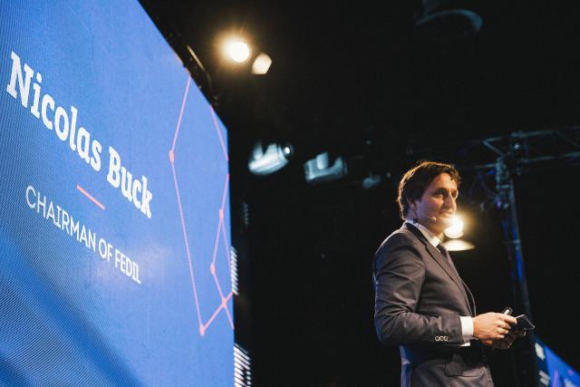 «Nous, les entrepreneurs, nous savons qu'il faut toujours aller de l'avant», a rappelé le président de la Fedil, Nicolas Buck, lors de la réception de Nouvel An de la fédération. (Photo: Léa Giordano)