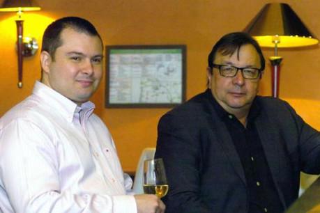 Julien Dumont (Media-Place Partners), ici à gauche avec Jean-Michel Peyronnet (Photo : Frédéric Humblet)