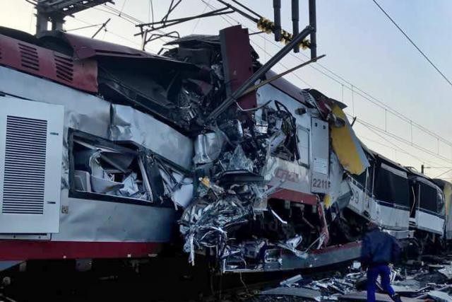 L'accident de trains, survenu mardi matin près de Bettembourg, a fait un mort.  (Photo: Police grand-ducale)