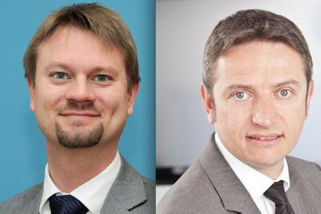 Olivier Portenseigne (Fundsquare) et David Gray (Numen): «Une plus grande fluidité des traitements».       (Photos: Fundsquare et Numen)
