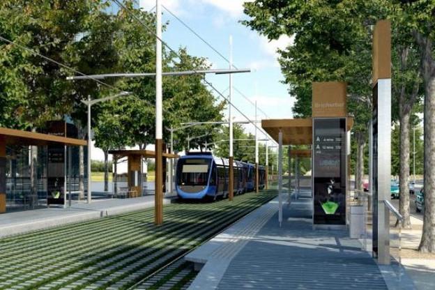 La Chambre de commerce souhaite que le projet du tram n'hypothèque pas à l'avenir les capacités financières du pays. (Illustration: Luxtram)