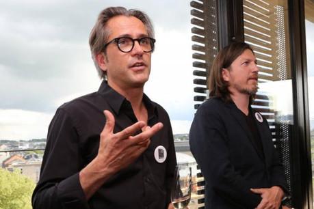 Nico Steinmetz et Arnaud de Meyer lors de l'inauguration des nouveaux bureaux. (Photos: Steinmetzdemeyer)