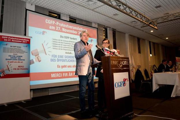 Romain Wolff a lancé un ultimatum aux partis pour se positionner lors de la manifestation organisée par la CGFP en novembre dernier. (Photo: Nader Ghavami)