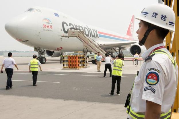 Tant pour Xavier Bettel que pour François Bausch, il a beaucoup été question ce mardi à Zhengzhou, second hub de Cargolux, de transport aérien et de logistique. (Photo: SIP)