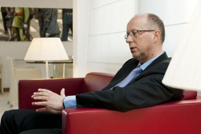 François Pauly évoque la transition de la «nouvelle  BIL» en faisant preuve d'optimisme dans la mesure. (Photo : Andrés Lejona)