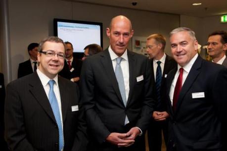Pour Vincent Fagard (à gauche), «les résultats sont en ligne avec les objectifs». (Photo: Delphi)