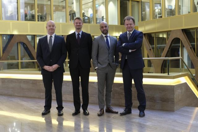 Fabrice Croiseaux (InTech), Olivier Portenseigne (Fundsquare), Saïd Fihri (KPMG) et Bernard Simon (Bourse de Luxembourg). (Photo: Anna Katina)