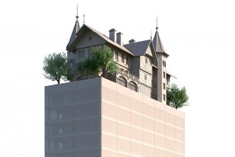 Une villa sur une tour de verre, tel est le projet de Philippe Starck pour cet hôtel 4 étoiles. (Illustration: DEIS)