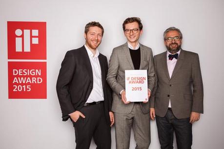 Guillaume Vanoutryve, stratégiste-gestionnaire à l'agence et Vinzenz Hölzl, directeur artistique, se sont rendus à Munich avec Mike Koedinger, fondateur et CEO de Maison Moderne. (Photos: Maison Moderne Studio)