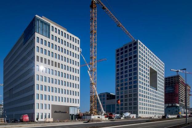 Le quartier de la Cloche d'Or a connu une année faste, avec la livraison des bâtiments d'Alter Domus (à gauche) et de Deloitte. (Photo: Nader Ghavami / archives)