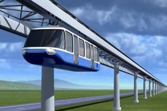 Le monorail s'implanterait au centre du terre-plein de l'autoroute. (Photo: Radio-Canada)