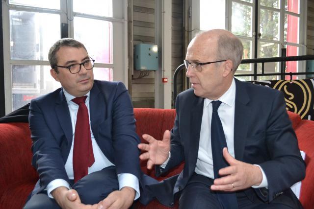 Cédric Mignon, directeur du développement de la Caisse d'Épargne, et Benoit Mercier, président du directoire de la Caisse d'Épargne Lorraine Champagne-Ardenne. (Photo: Caisse d'épargne)