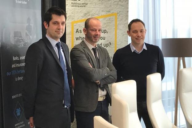 Pour David Furcajg (centre), le président de Highwave Capital, c'est le dynamisme de l'écosystème fintech luxembourgeois qui l'a poussé à installer sa start-up au Grand-Duché. (Photo: DR)