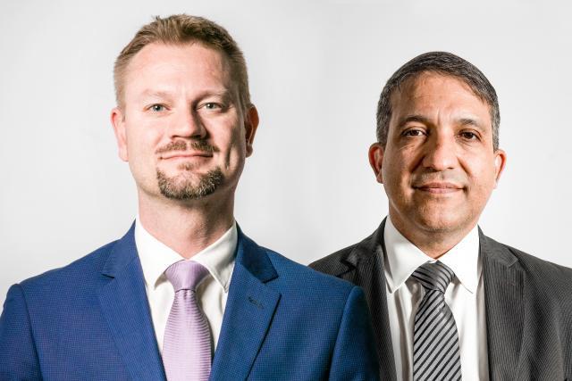 Olivier Portenseigne (Fundsquare) et Dariush Yazdani (PwC Luxembourg) s'expriment sur le processus de transformation digitale de l'industrie des fonds. (Photo: Maison Moderne)