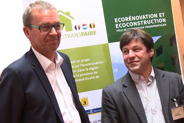 Camille Gira et Bernard Lahure sur la même longueur d'onde pour développer la Grande Région avec des projets durables. (Photo: DR)