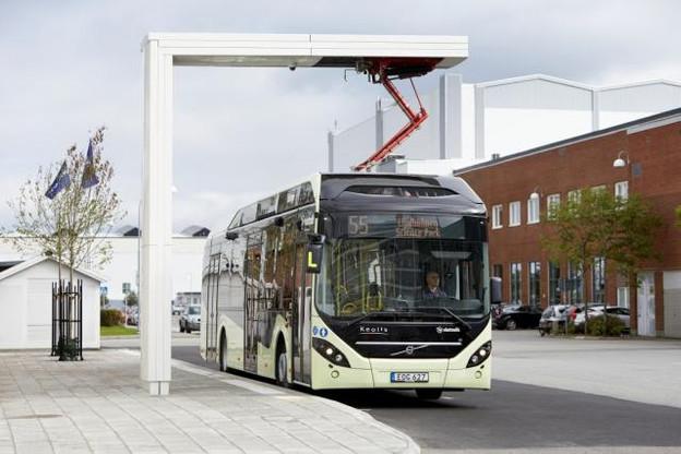 À Livange, au terminus, des stations permettent aux bus de se recharger en un temps record. (Photo: Volvo)
