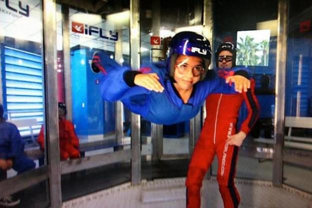 L'attraction iFly (ici en Floride, à Orlando) permet de s'envoyer en l'air tout en restant proche du sol. (Photo: DR)