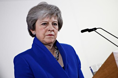 Theresa May pourrait être fragilisée par son propre parti ce mercredi soir. (Photo: Shuttersctock)