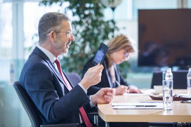 Serge De Cillia lors de son entretien avec Paperjam le 3 mars. (Photo : Edouard Olszewski)