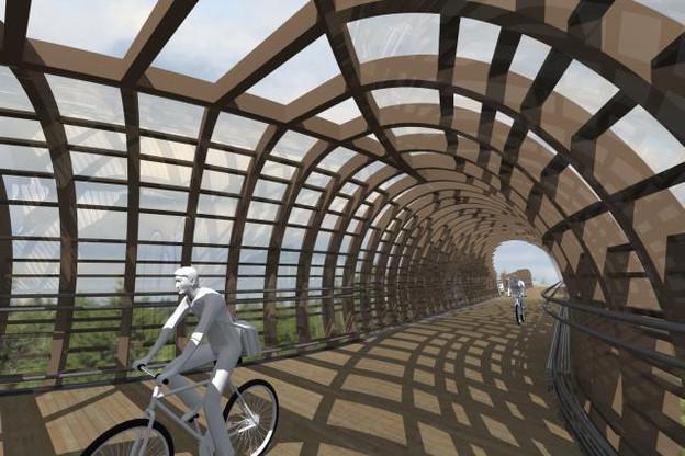Une nouvelle passerelle, qui est encore en phase d'étude, mais dont le coût est estimé à 11 millions d'euros. (Photo: Ville de Luxembourg)