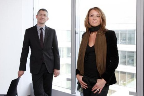 Christian Scharff et Géraldine Mascelli (PwC Luxembourg) (Photo : Olivier Minaire)