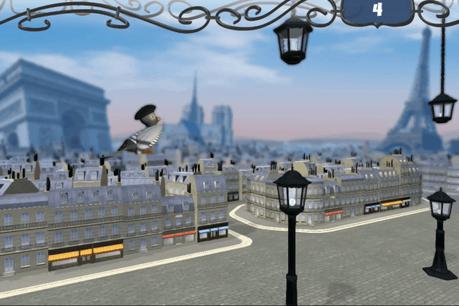 Le joueur doit s'identifier à un pigeon et éviter les lampadaires.  (Photo: Carbon Fire Studio)