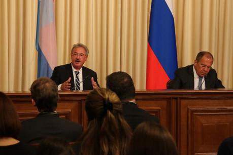 Jean Asselborn et Sergueï Lavrov, ministre des Affaires étrangères de la Fédération de Russie. (Photo: Ministère des Affaires étrangères et européennes)