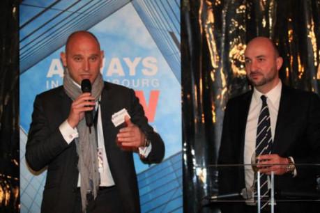 Vincent Bechet (à gauche, avec Étienne Schneider, en 2013 à Cannes) tire du Mipim des sources d'optimisme pour le marché.  (Photo: Property partners)