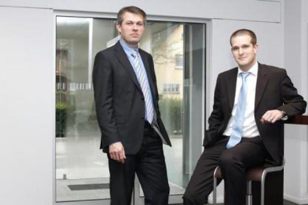 Amaury Fonteyn et Eric Preud'homme (Telindus Luxembourg) (Photo: Olivier Minaire)