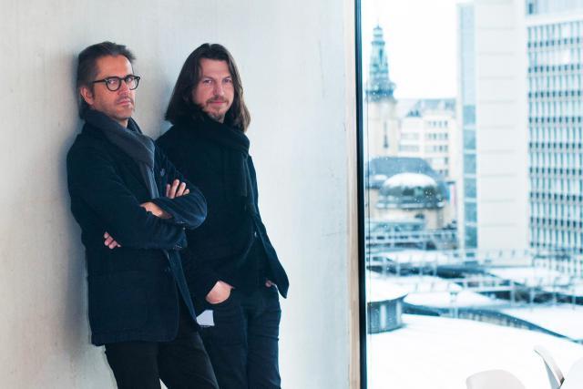 Nico Steinmetz et Arnaud De Meyer sont à la fois investisseurs, maîtres d'œuvre, maîtres d'ouvrage et occupants de leurs nouveaux bureaux. (Photo: Annabelle Denham)