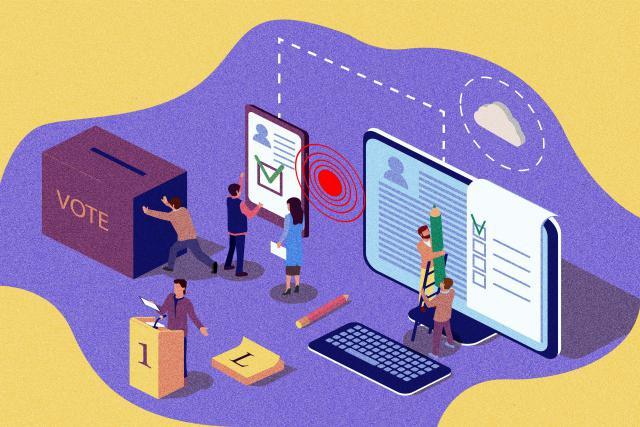 Selon le Premier ministre Xavier Bettel, sans vote électronique, «la surface d'exposition à des cyberattaques se trouve fortement réduite.» (Illustration: Jeler)