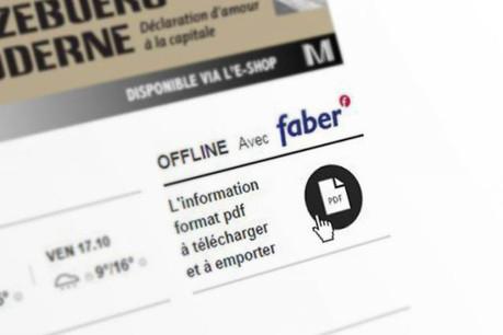 L'icone permet de télécharger une version PDF, que l'on peut ensuite imprimer par exemple. (Création : Maison Moderne Studio)