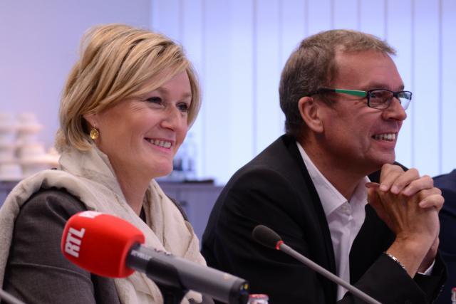 Francine Closener et Camille Gira ont soutenu le bourgmestre de Wiltz, Frank Arndt, dans son initiative. (Photo: ministère de l'Economie)