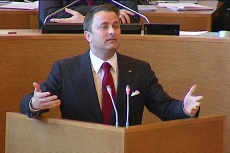 Xavier Bettel, ce mercredi à la tribune du Parlement wallon à Namur. (Photo: DR)