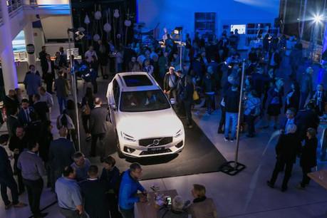 Le nouveau XC60 a été présenté mardi soir chez Autopolis, devant les clients, fournisseurs et partenaires de Volvo. (Photo: DR)