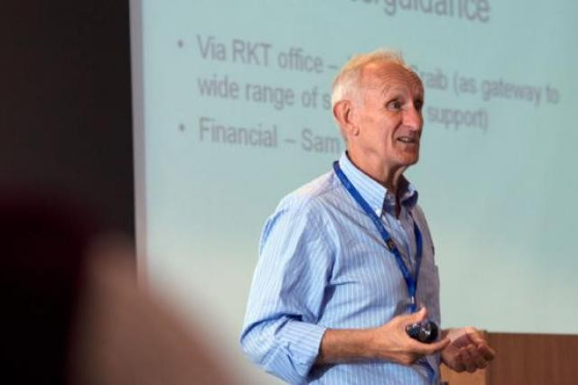 """John Bessant: """"Innovation is not  a simple slot machine where you put money or resources in the top...""""  (Photo: Jim Myton/Exeter Business School)"""