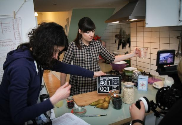 """On the set of """"Anne's Kitchen""""  Jonathan Perugia"""
