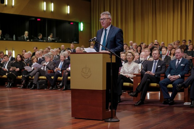 Après avoir prononcé son engagement solennel devant la CJUE lundi, NicolasSchmit a présenté mardi la feuille de route de la Commission en vue d'une «Europe sociale forte pour des transitions justes». (Photo: Romain Gamba/Maison Moderne)