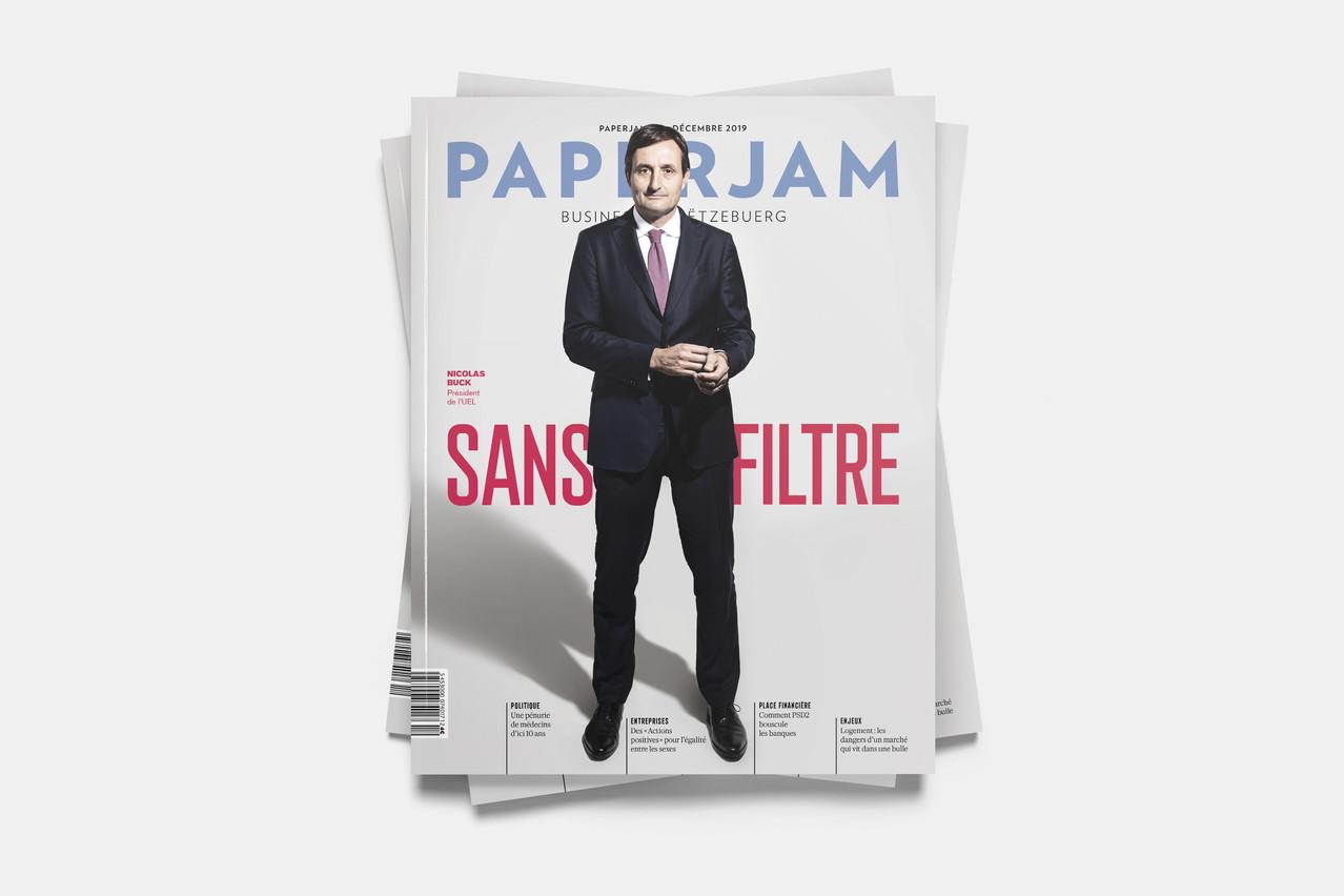 NicolasBuck, «patron des patrons», fait la couverture de ce dernier numéro de l'année de Paperjam. (Photo: Maison Moderne)