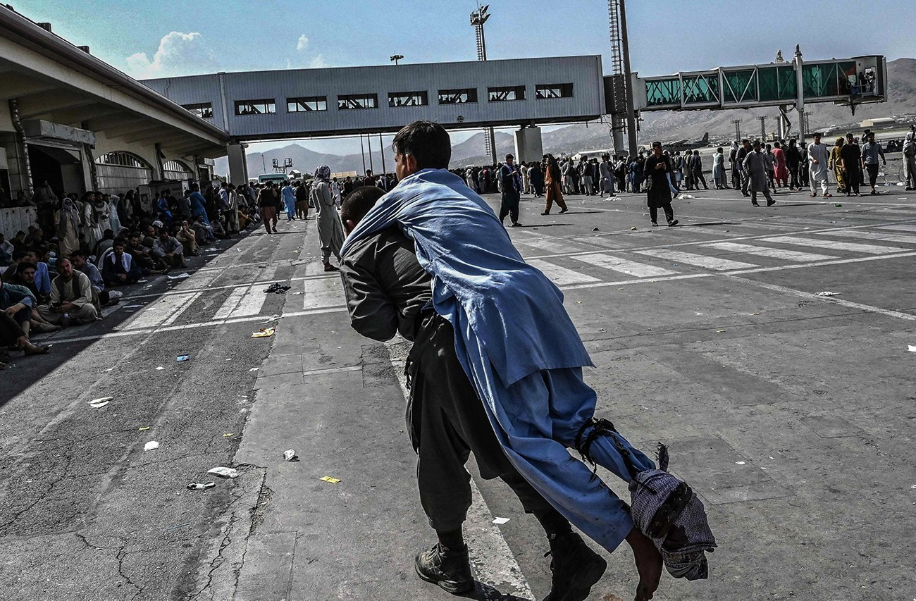 The chaos seems to be total at Kabul airport, where the US now fears an attack by the Islamic State. Photo: Shutterstock