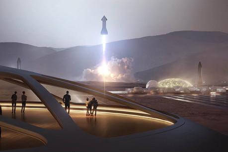 Plus que la 4G de la Lune, sur laquelle travaillera Nokia, les deux tiers du budget que la Nasa consacre aux 14 contrats d'Artemis sont tournés vers la propulsion dans l'espace et vers les carburants du futur. (Photo: Space X)