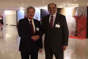 Jean Asselborn et le Vice-Premier ministre, ministre des Affaires étrangères du Koweït Cheikh Sabah Khaled Al Hamad Al Sabah. ((Photo: MAEE))