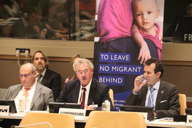 Présent à New York dans le cadre de la session des Nations unies, le ministre Jean Asselborn a notamment évoqué l'importance de l'accès aux soins, aux médicaments et à la sécurité sociale pour les migrants. (Photo: MAEE)